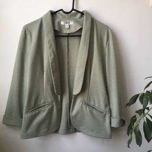 Mint Green Jersey Blazer